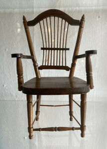 Beautiful Vintage C1950s Amish Heritage Colonial Wheat Sheaf Arm Chair Miniature