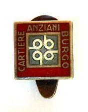 Distintivo Cartiere Burgo - Anziani (Pagani S.p.A. Milano) Argento 800