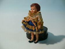 TRACHTENPUPPE Kleid Tracht Puppe Mädchen Doll Spitze Kunststoff Alt Puppenhaus