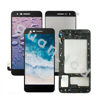 For LG Aristo 3 Plus LM-X220QM LM-X220MB LCD Touch Screen Digitizer ± Frame