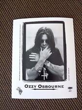 Ozzy Osbourne Vintage Promo Live B&W 8x10 Photo #3 Cd Lp 1995