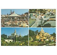 Disneyland Vintage Unused Postcard Fantasyland Multi-View Card circa 1980