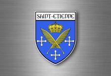 Autocollant sticker voiture blason ville departement adhesif st saint etienne