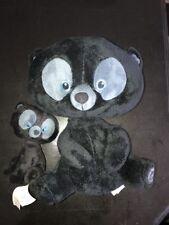 "Disney Store Brave Black Bear Cub Brother Large Plush Soft Toy 14"" & 8"" Lot"