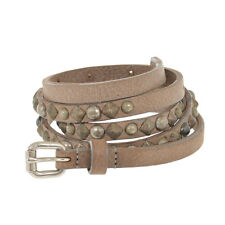 HTC HOLLYWOOD TRADING COMPANY New Woman Gray Studded CASABLANCA Belt Size 85