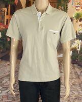 Lacoste 6 Size XL Men's Polo Shirt Short Sleeve Pocket Logo 100% Cotton Beige