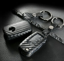 TPU Soft Smart Key Fob Cover Carbon Fiber Style For VW Volkswagen GTI Golf Jetta