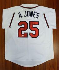 Andruw Jones Autographed Signed Jersey Atlanta Braves JSA