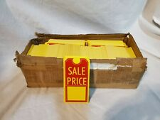 """Large Sale Price w/slit, Yellow stock, 1000 Tags / Pack, 2.625"""" x 5.25"""" Sp2602Yl"""