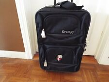 "Rare Vtg. Disney ""Grumpy"" Carryon Black Softside Luggage"