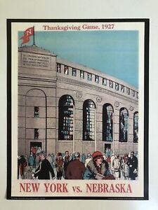 "1927 NEBRASKA CORNHUSKERS vs NYU VIOLETS 11""x14"" FOOTBALL Program Poster"