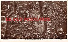 LONDON EC4 - aerial view of St. Paul's Cathedral - Real Photo Postcard