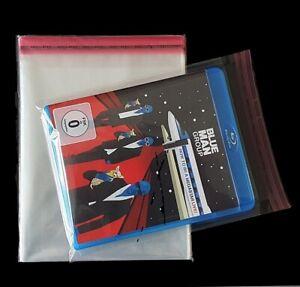 100x Blu-Ray  Schutzhüllen  PP-Folie für Steelbook bis 15 mm, mit Verschluss