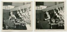Gorgeous Beauty Queen Girl & King Slide Projector 2 Vintage 1950s Photos