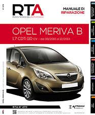 Manuale riparazione auto meccanica+elettronica+carrozzeria - OPEL MERIVA B