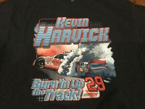 2001 Vintage NASCAR Kevin Harvick Goodwrench Burning Up Print Shirt NOS Large