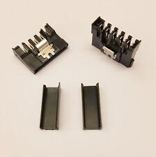 Straight SATA PC Bloc d'alimentation Connecteur d'alimentation-Noir Caps-À faire soi-même - Lot de 20