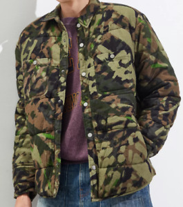 NEW Urban Outfitters BDG Camo Quilted Shirt Jacket  - Size XXL
