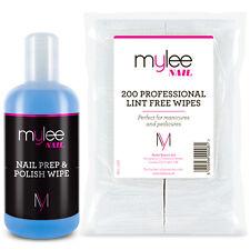 Mylee Kit Nail Prep & Wipe Gel Polish 200 Lint Free Wipes UV LED Gel Soak Off
