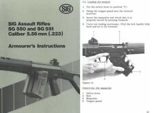Sig 550/551 5.56mm Armourer's Instructions