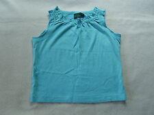 Mini Boden ? Mädchen T-Shirt Bluse TOP hellblau gesmokte Arme ? 2-3 J. Gr. 86-92