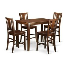 5 PC counter height pub set - high table and 4 kitchen chairs. NEW
