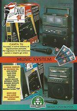 X0296 Karaoke Canta Tu - Giochi Preziosi - Pubblicità 1992 - Vintage Advertising