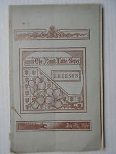 Henry bellyse Baildon Ralph Waldo Emerson 1884 firmata! Man and the Teacher