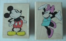 Lot of 2 Vintage Rubber Stampede Classic Mickey/Happy Minnie Rubber Stamps New