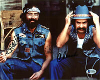 Cheech Marin & Tommy Chong Up in Smoke Authentic Signed 8x10 Photo BAS #D78640