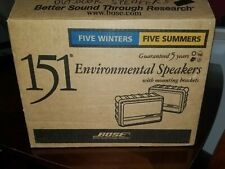 NEW Bose 151 Environmental Indoor/Outdoor Speakers w/ Mounting Brackets BLACK