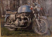 Original 1973 Vintage mounted motor advert Munch TTS 1200 Motorbike