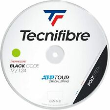 Tecnifibre Black Code Tennis String - 1.24mm/17G - 200m Reel - Lime - BlackCode