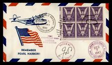 DR WHO 1942 HONOLULU HAWAII NAVY CANTONMENT STA WWII PATRIOTIC CACHET  f53133