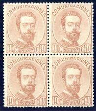 SELLOS DE ESPAÑA 1872 AMADEO I Nº 125 BLOQUE DE CUATRO EN NUEVO