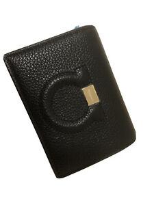 Salvatore Ferragamo Mini Gancini Leather Wallet Black