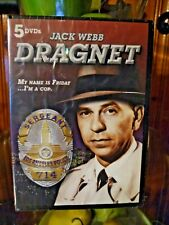 Jack Webb as DRAGNET. 5 DVD Set. 25 episodes. 2012 Madacy Home Entertainment.