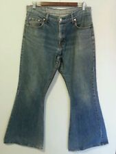 OLD WORN BEAT USED LEVI'S FLARES AUSTRALIAN DENIM JEANS SIZE 12 RED TAB VINTAGE