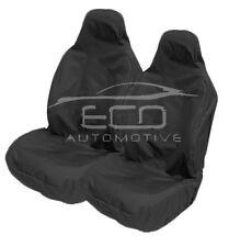 HEAVY DUTY BLACK WATERPROOF RUBBER LINED CAR SEAT COVERS BUCKET SEATS -PAIR