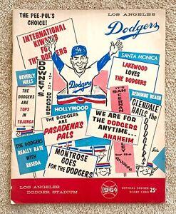 1964 Cardinals - Dodgers Program: Sandy Koufax Shutout, 13 Ks, Career Win #112