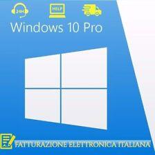 WINDOWS 10 Professional Pro Key 32/64 Bit Licenza Retail Esd - Fattura Italiana