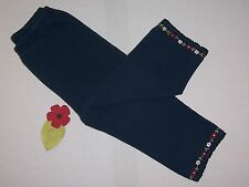 """Gymboree girls vintage """"MAD about PLAID"""" sz 18-24mth pants...navy w/embroidery"""