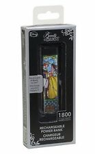 Disney Beauty And The Beast Stained Glass Rechargeable Power Bank 1800 mAh USB