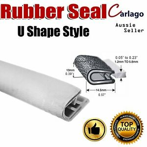 White Pliable Rubber Car Door Trunk Hood Edge Seal Trim Strip Cold Resistance 4M