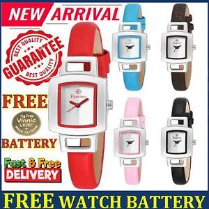 Ladies Women Wrist Watches Analogue Quartz Leather Strap Casual Girls Watch Gift