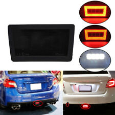 Smoked Lens LED Rear Fog Light, Brake Backup Reverse For 2011+ Subaru WRX STi XV