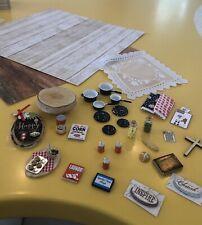 Miniature Doll House Lots,accessories,decor, Furniture, Asst, 1:12, Flooring