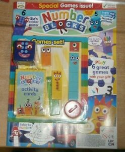 Number Blocks magazine #2 2021 Special Games issue + Sticker poster & Games set