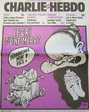 CHARLIE HEBDO N° 589 OCTOBRE 2003 RISS   PAPE LE CRI D'UNE MERE !