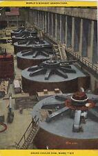 *(M)   Grand Coulee Dam, WA - Interior View of Generators